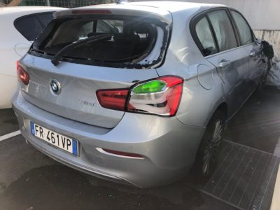 BMW serie 1 Incidentata